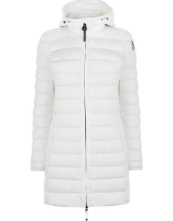 PARAJUMPERS Irene Super Lightweight Long Line Jacket - Off White 505