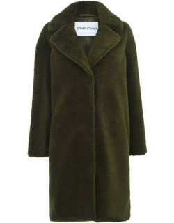 STAND Camille Cocoon Coat - ArmyGreen 57900