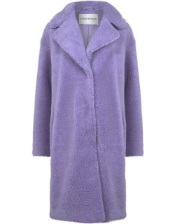 STAND Camille Cocoon Coat - LghtLilac 74000