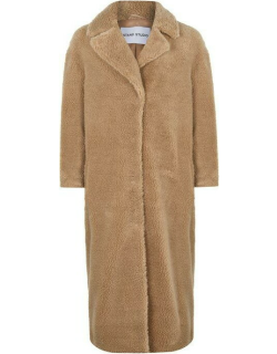 STAND Camille Long Fur Coat - Beige 10300