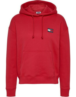 Tommy Jeans Tommy Badge Hoodie - XNL DEEP CRIMSN