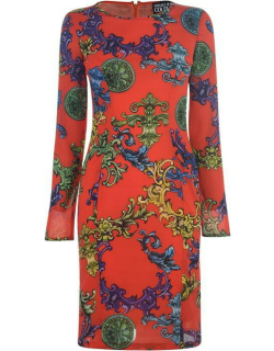 Versace Jeans Couture Baroque Print Midi Dress - Lobster 502