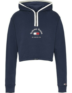 Tommy Jeans Timeless Crop Hoodie - TWLGHT NAVY C87
