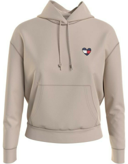 Tommy Jeans Boxy Heart OTH Hoodie - SMOOTH STNE ABI