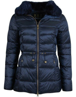 Barbour Angus Quilted Jacket - Dk Navy