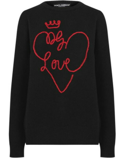 Dolce and Gabbana Dolce Heart Knit Jumper - Nero S9000