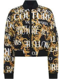 VERSACE JEANS COUTURE Reversible Baroque Bomber Jacket - Blk/Yellow 899