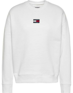 Tommy Jeans Centre Badge Crew Sweater - WHITE YBR