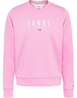 Tommy Jeans ESS Logo Crew Sweater - TOU DAISY PINK