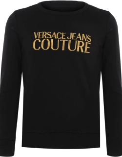 Versace Jeans Couture Contrast Logo Sweater - Black/Gold K42