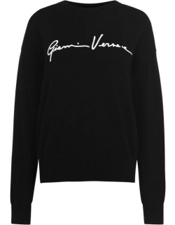 VERSACE Signature Knitted Jumper - Black A1008