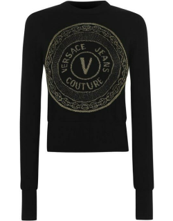Versace Jeans Couture Round Logo Jumper - Black/Gold K42