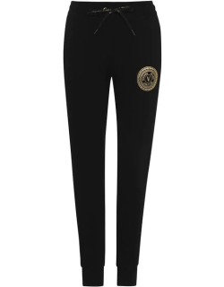 Versace Jeans Couture Round Logo Joggers Ladies - Black/Gold G89