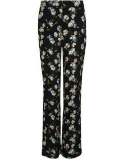 OFF WHITE Pyjama Style Floral Trousers - Black