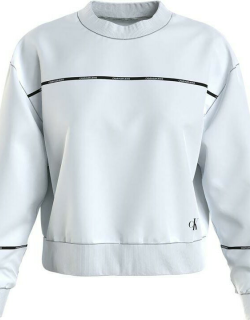 Calvin Klein Jeans Hwk Iconic Boxy Fit Piping Cn - BRGHT WHT YAF