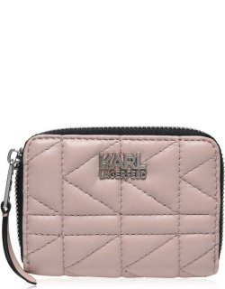 Karl Lagerfeld Kuilted Small Zip Around Purse - A526 PowderPink