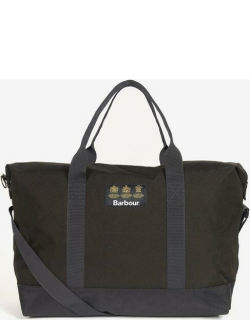 Barbour Highfield Canvas Holdall - Navy/Olive NY91