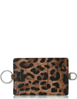 DOLCE AND GABBANA Leopard Card Necklace - Brown HA93M