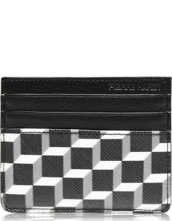 PIERRE HARDY Cube Leather Card Holder - Blk/White
