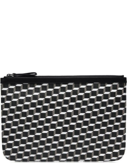 PIERRE HARDY Perspective Cube Large Pouch - Blk/White
