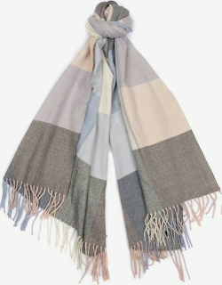 Barbour Pastel Check Scarf - BLUE/PINK/GREY
