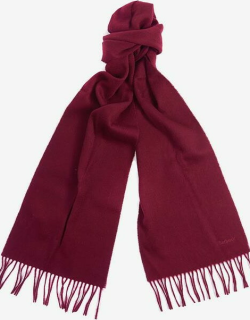 Barbour Lambswool Woven Scarf - Burgundy