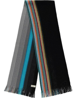 Paul Smith Reversible Ombre Scarf - Black/Blue 79