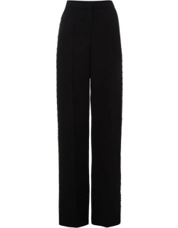 Escada Wide leg trousers with side button detail - Black