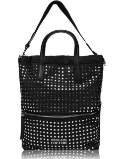 Versace Jeans Couture Nylon Studded Shopping Bag - Black 899