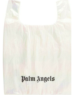 Palm Angels Reflective Shopping Bag - WHITE