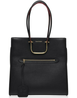 Alexander Mcqueen Tall Story Tote - Black/Red 1050