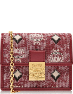 MCM Mcm Chain Card Holder - Red