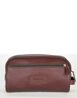 Barbour Leather Wash Bag - Brown BR71