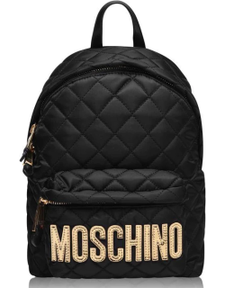 MOSCHINO Moschino Quilted Backpack - Blck/Gold 2555