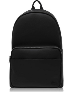 Lacoste Leather Backpack - Black
