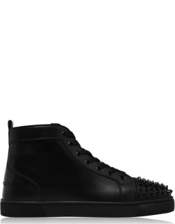 CHRISTIAN LOUBOUTIN Leather Spikes High Top Sneakers - Black/Blk B049
