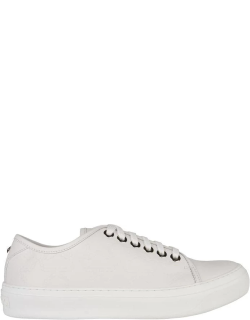 JIMMY CHOO Aiden Low Top Embossed Trainers - White/White