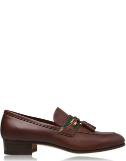 GUCCI Paride Gg Slip On Loafers - Brown 2260