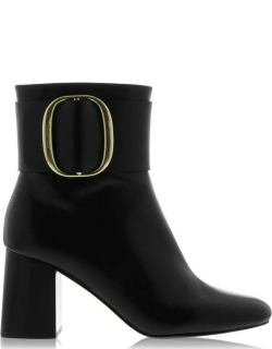See By Chloe Buckle Ankle Boots - 999 NERO