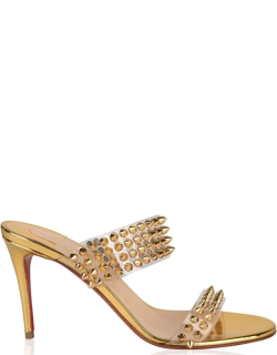 Christian Louboutin Spike Only Heeled Mules - Gold 3273