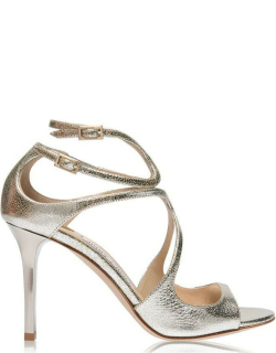 JIMMY CHOO Ivette Strappy Sandals - Champagne