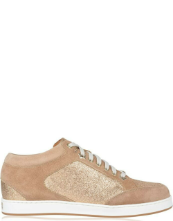 JIMMY CHOO Miami Trainers - Nude/Suede Glt