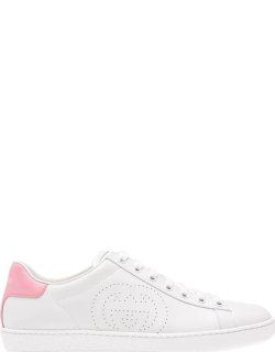 GUCCI Ace Trainers - Wht/Pink 9076