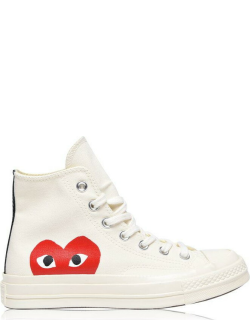 COMME DES GARCONS PLAY Large Heart Chuck Taylor 70 All Star High Trainers - White 2