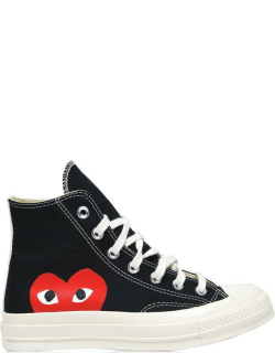 COMME DES GARCONS PLAY Large Heart Chuck Taylor 70 All Star High Trainers - Black 1