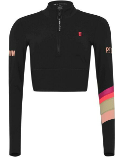PE NATION Box Out Long Sleeve Top - Black