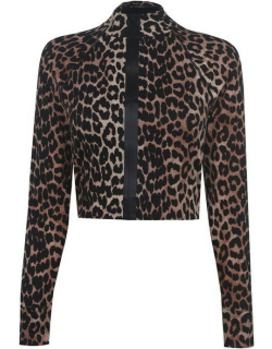 Ganni Leopard Recycled Top - MULTI