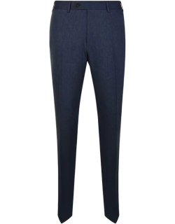 CANALI Linen Wool Suit Trousers - Navy
