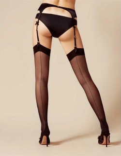 Agent Provocateur Amber Stockings - Black