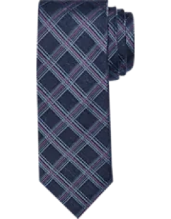 Reserve Collection Windowpane Plaid Tie